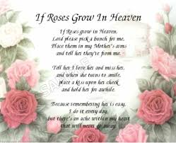 personalized in loving memory gifts if roses grow in heaven s personalized poem memory gift