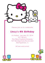 hello kitty birthday invitation printable invitation kits