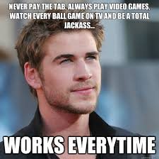 Girls Playing Video Games Meme - never pay the tab always play video games watch every ball game