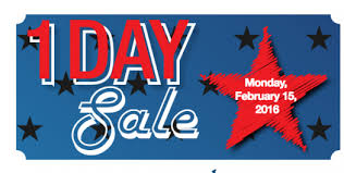 price chopper one day president s day sale february 15 2016