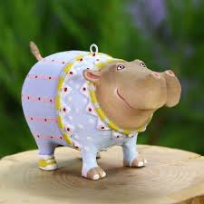 patience brewster mini hugo hippo ornament