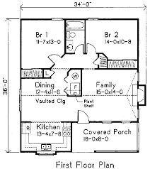 cottage style house plan 2 beds 1 00 baths 1020 sq ft plan 22 118