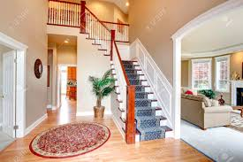 Red Round Rug Hardwood Hallway With Red Round Rug And Palm Tree View Of