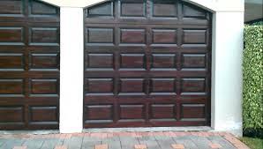 Exterior Garage Door by Garage Doors Rich Mahogany Gel Stain Wood Finish Youtube