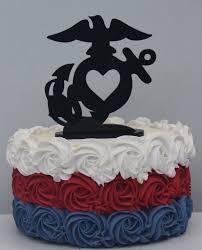 marine cake topper usmc marine corps heart wedding cake topper groom ega