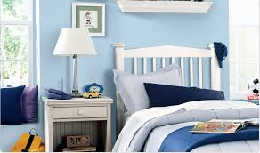Blue Purple Bedroom - one color different hues