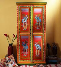 Wardrobe Online Shopping Shopping For Shreenathji Painted Almirah Wardrobe By Mudramark
