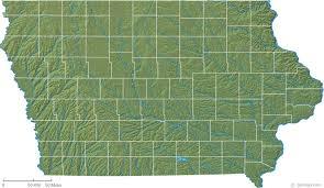 map of iowa iowa physical map and iowa topographic map