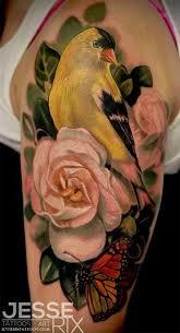Flower And Bird Tattoo - best 10 realistic bird tattoo ideas on pinterest tree tattoos