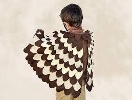 owl costume brown bird wing cape kids owl costume bhb kidstyle