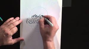 how to draw a flower basket youtube
