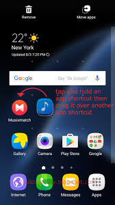 create folder on android samsung galaxy s7 edge how to create folder in home screen or