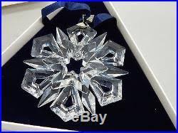 swarovski austrian snowflake ornament mib 990001
