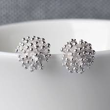 cluster stud earrings silver cluster stud earrings by martha jackson sterling silver
