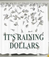 Fashion Shower Curtain Funny Shower Curtain It U0027s Raining Dollars United States Hundred