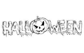halloween text and pumpkin halloween coloring pages for adults