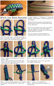 how to make a shark jaw bone paracord bracelet paracord projects