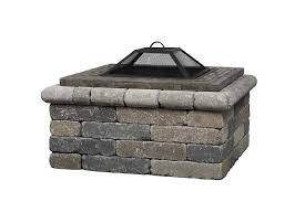 al brick square fire pits