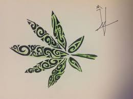 drawn weed cute pencil and in color drawn weed cute