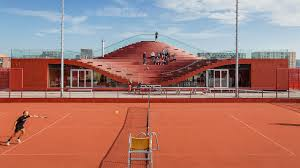mvrdv u0027s latest building is a giant comfy couch for tennis lovers