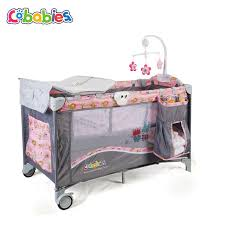 Changing Table And Crib Portable Baby Crib Multi Functional Folding With Diapers Changing