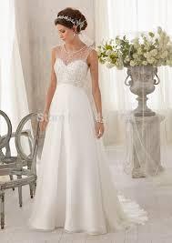 illusion neckline wedding dress bling bling illusion neckline wedding dresses sheer back beading a