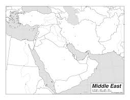 outline map middle east middle east outline