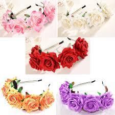 flower garland floral flower garland crown headband hair band bridal
