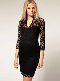 fashion v neck 3 4 sleeve lace bodycon mini dress novashe com