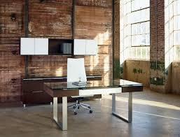 Modern Glass Office Desk by Office Glass Office Desk Ideas Using Rectangular Transparent