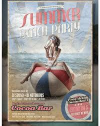 50 best beach party flyer templates an awesome collection of