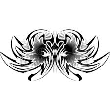royalty free tribal angel wings tattoo design 377687 vector clip