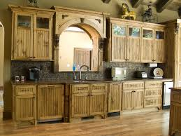 rectangle soft brown unfinished pine kitchen cabinet rustic