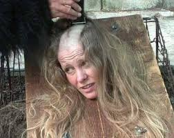 forced to get female hair style h 2763 jpg 354 281 pixels in the act of a haircut pinterest