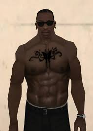 gta san andreas butterfly with tribals left and right chest tattoo