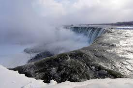 pictures niagara falls frozen polar vortex temperatures