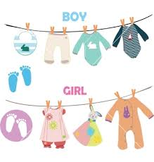 new baby shower new baby boy and girl set for baby shower vector on vectorstock