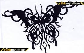 black tribal background butterfly tattoomagz