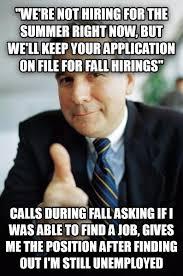 Finding A Job Meme - livememe com good guy boss