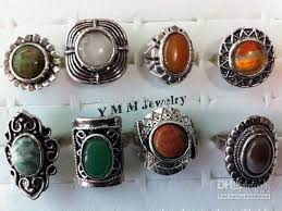 stone vintage rings images 2018 vintage adjustable natural stone rings high quality fashion jpg