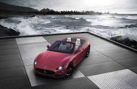maserati red convertible grancabrio sport