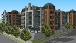 3d apartment city block of urban apartments 3d warehouse