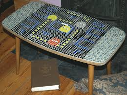 Pacman Game Table by Pacman Mosaic Table Neat Pinterest Mosaics Pac Man And