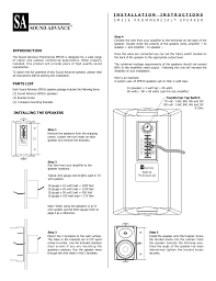 download free pdf for sonance sm516 speaker manual