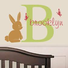 Wall Name Decals For Nursery Shop All Decals Nursery Wall Decals Forest Friends Initial