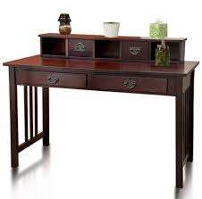 Espresso Computer Desk With Hutch by Wood Desks Wood Writing Desk Writing Desk And Desks