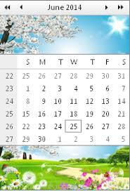 calendar header and footer templates ui control for asp net ajax