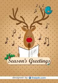 imagenes animadas de renos de navidad reno cantando villancicos de navidad ilustración vectorial de