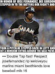 Dee Gordon Meme - in honor of jose fernandez dee gordon stepped in to the batters box