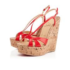 golden chain christian louboutin wedge lady